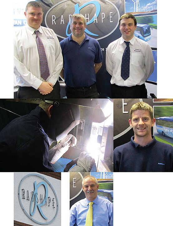Clockwise from top left: Mark Mitchell, Billy Howarth, Richard Massey, Mark Patrick, and Radshape MD Keith Chadwick.